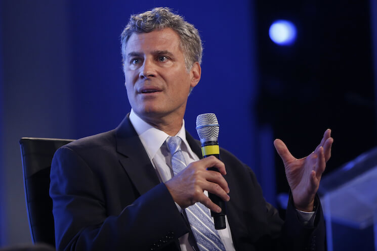 Economist Alan Krueger speaks at the 2014 Fiscal Summit in Washington.