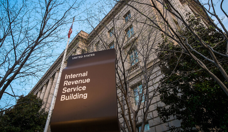 The Internal Revenue Service Headquarters (IRS) building is seen in Washington, D.C.