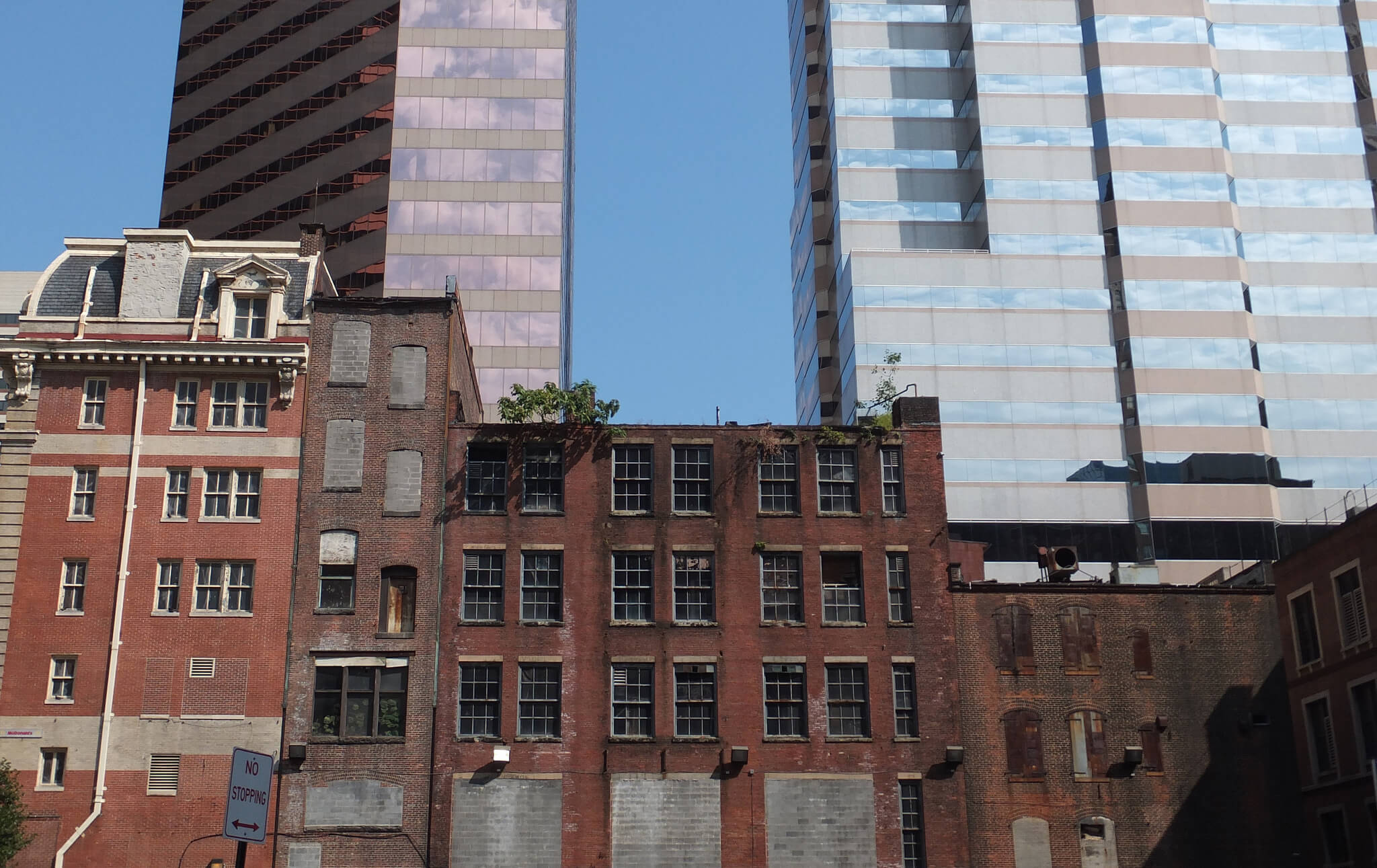 Urban blight in Baltimore, Maryland.