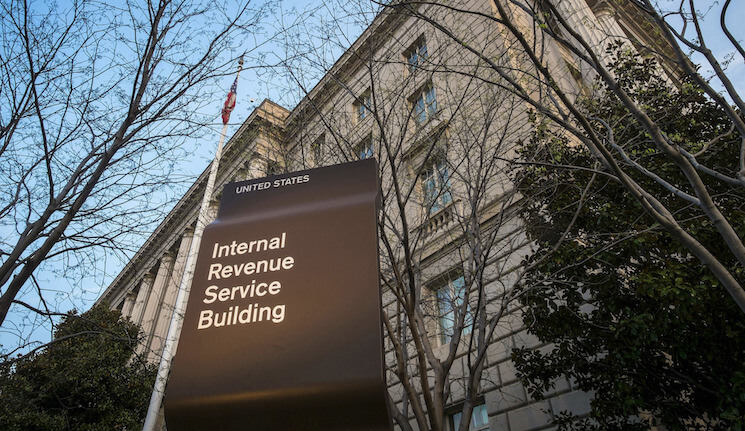 This photo shows the Internal Revenue Service headquarters building in Washington.