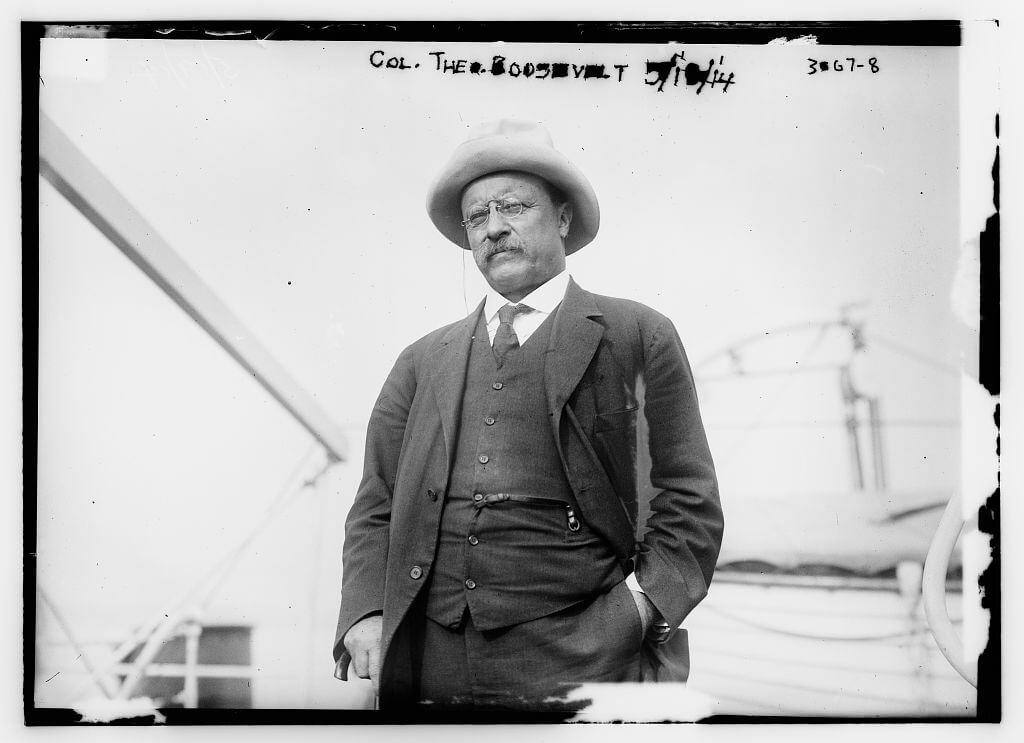 """Photo of President Theodore Roosevelt, the original """"trust-buster."""""""