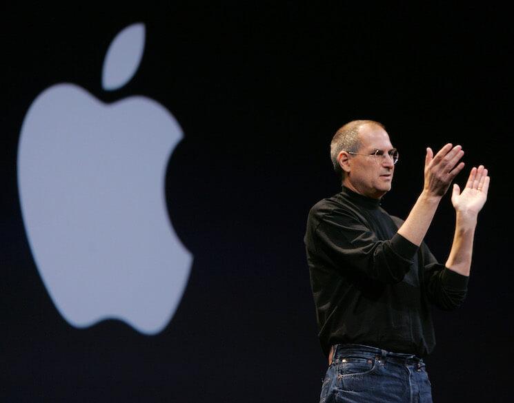 Photo of the late Apple Inc. CEO, Steve Jobs, on Jan. 10, 2006.