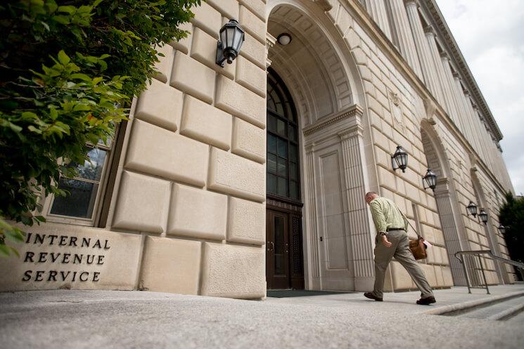 Photo of the Internal Revenue Service Building in Washington.
