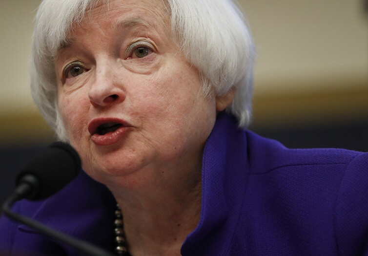 Federal Reserve Board Chair Janet Yellen testifies on Capitol Hill in Washington before the House Financial Services Committee.