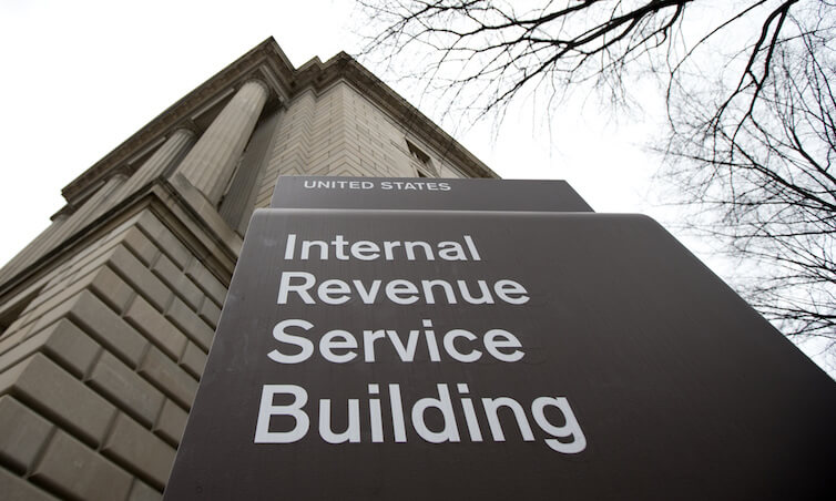 The Internal Revenue Service building at the Federal Triangle complex in Washington.