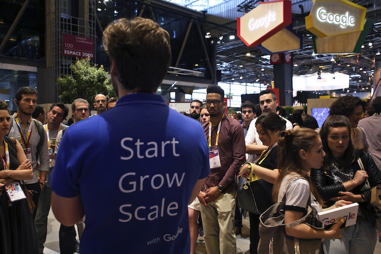 People attend Vivatech, a gadgets conference in Paris, France.