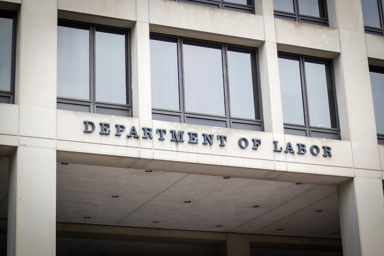 The Department of Labor building in Washington, DC. New research reviews unemployment data from Washington state to show that where you work is important to what you earn.