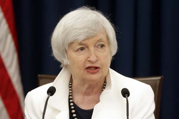 Janet Yellen speaks at a news conference following the Federal Open Market Committee meeting in Washington, Nov. 7, 2017.