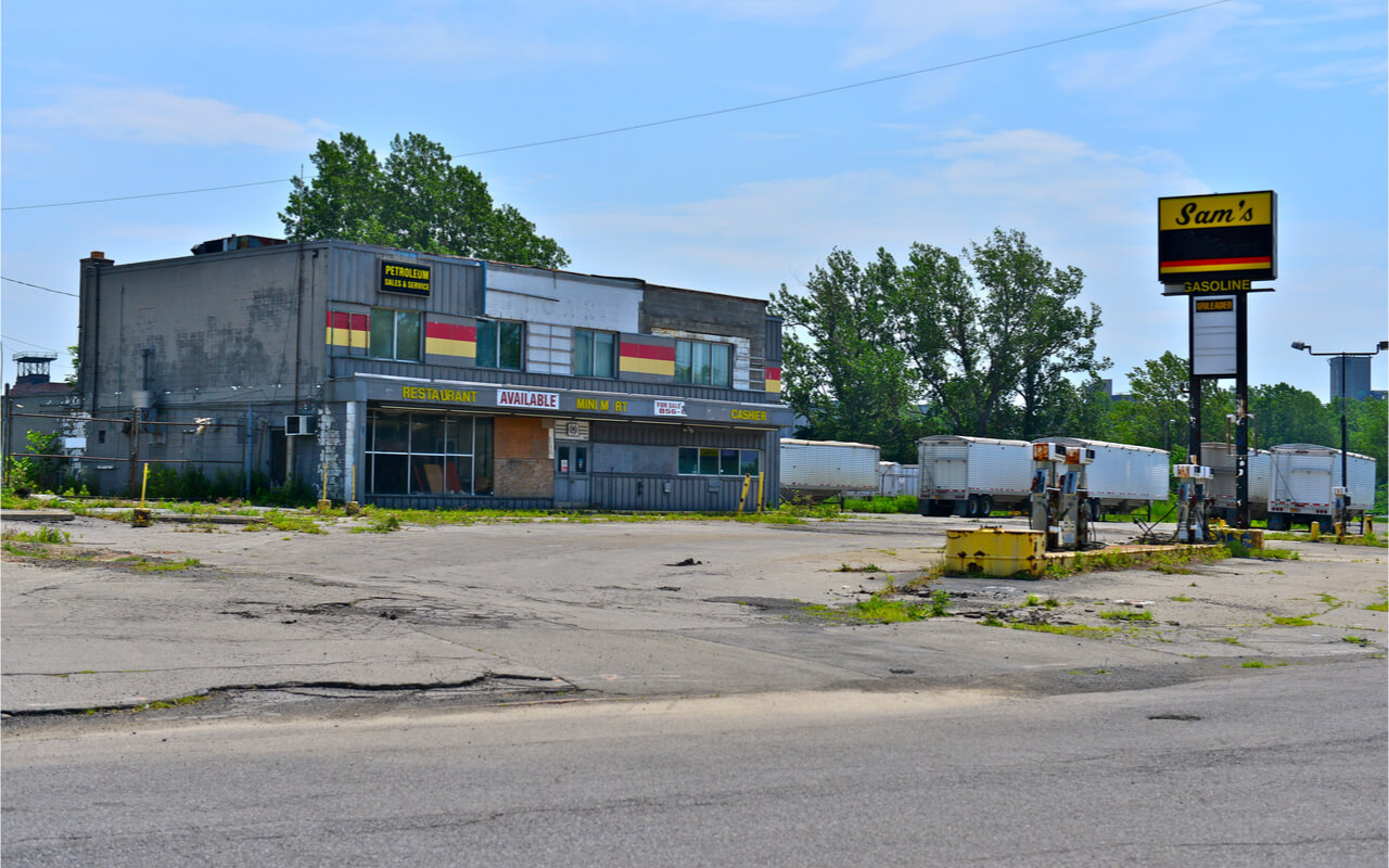 Abandoned Gas Station Small Town Equitable Growth