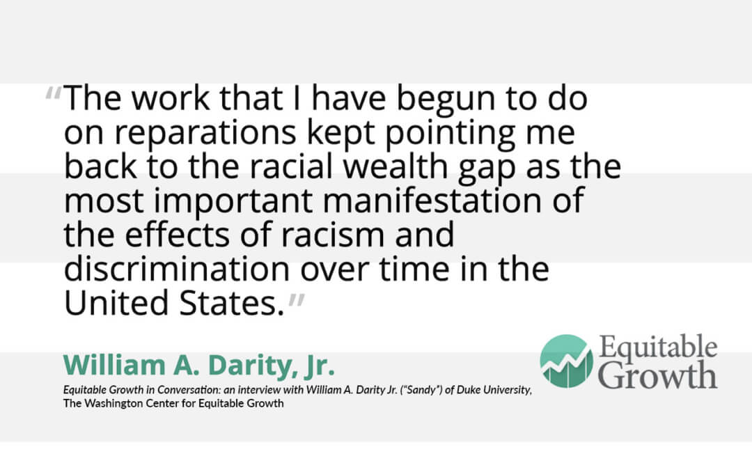 Quote from William Darity, Jr. on the racial wealth gap