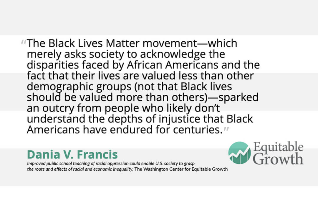 Quote from Dania Francis on Black Lives Matter