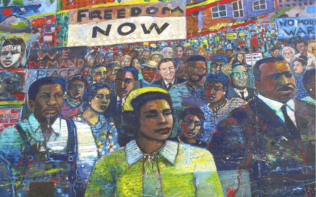 A section of the Martin Luther King Jr. Mural at the National Historic Site in Atlanta, GA.