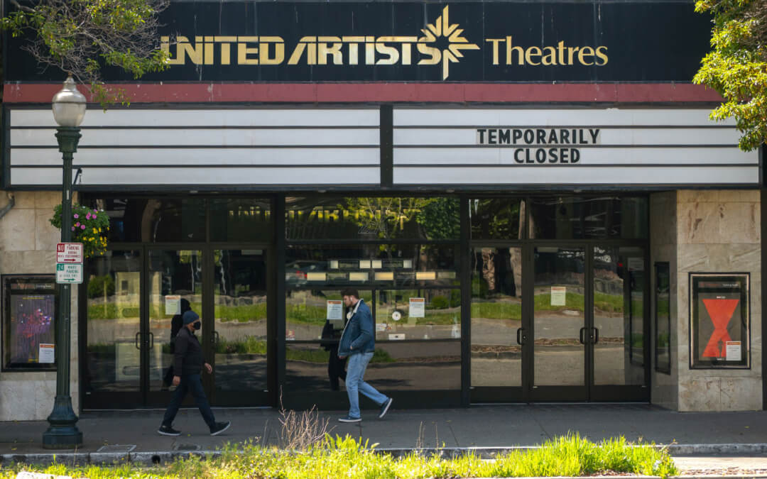 The United Artists Theatres in Berkeley, CA., is one of the many venues that was forced to close at the onset of the coronavirus pandemic.