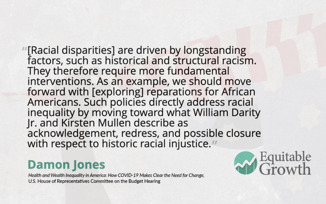 Quote from Damon Jones on racial disparities