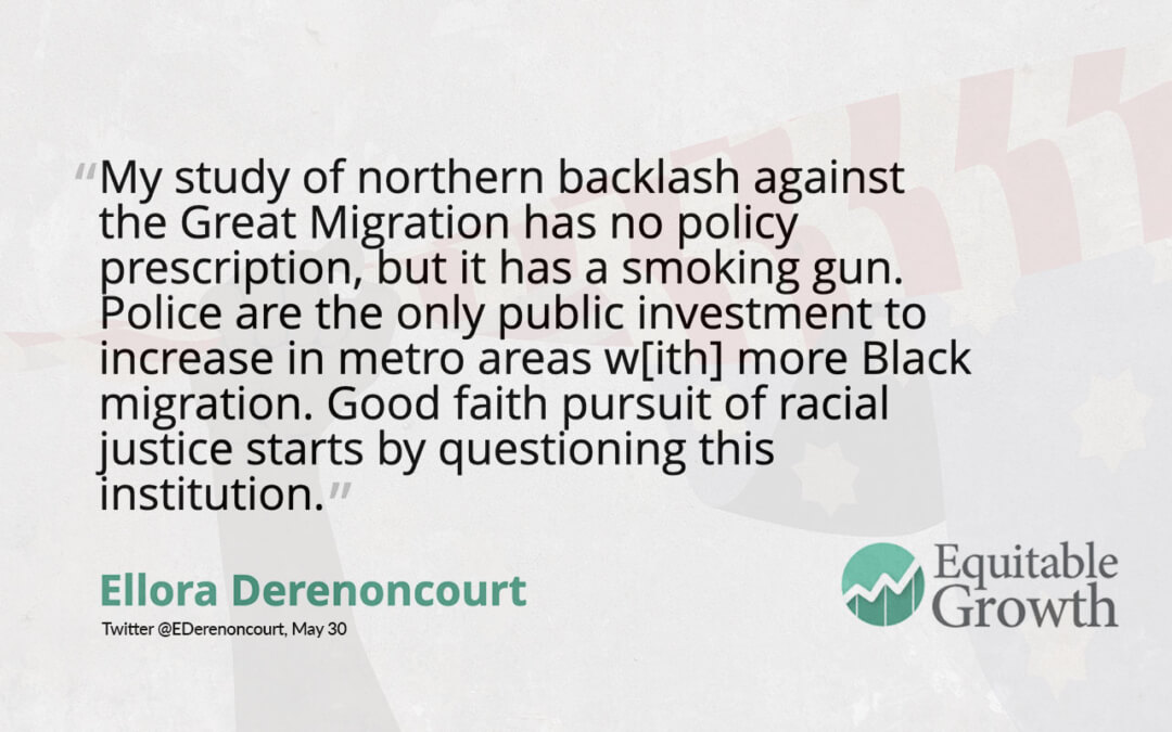 Quote from Ellora Derenoncourt on Black migration and policing