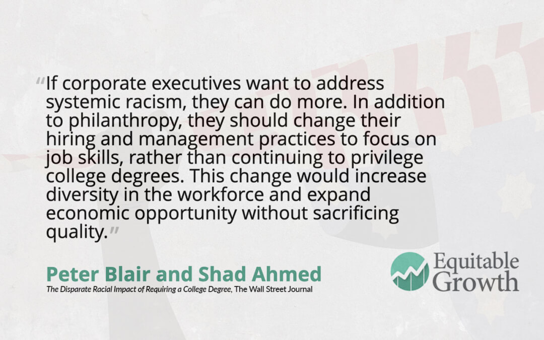 Quote from Peter Blair on systemic racism and diversity in the workforce