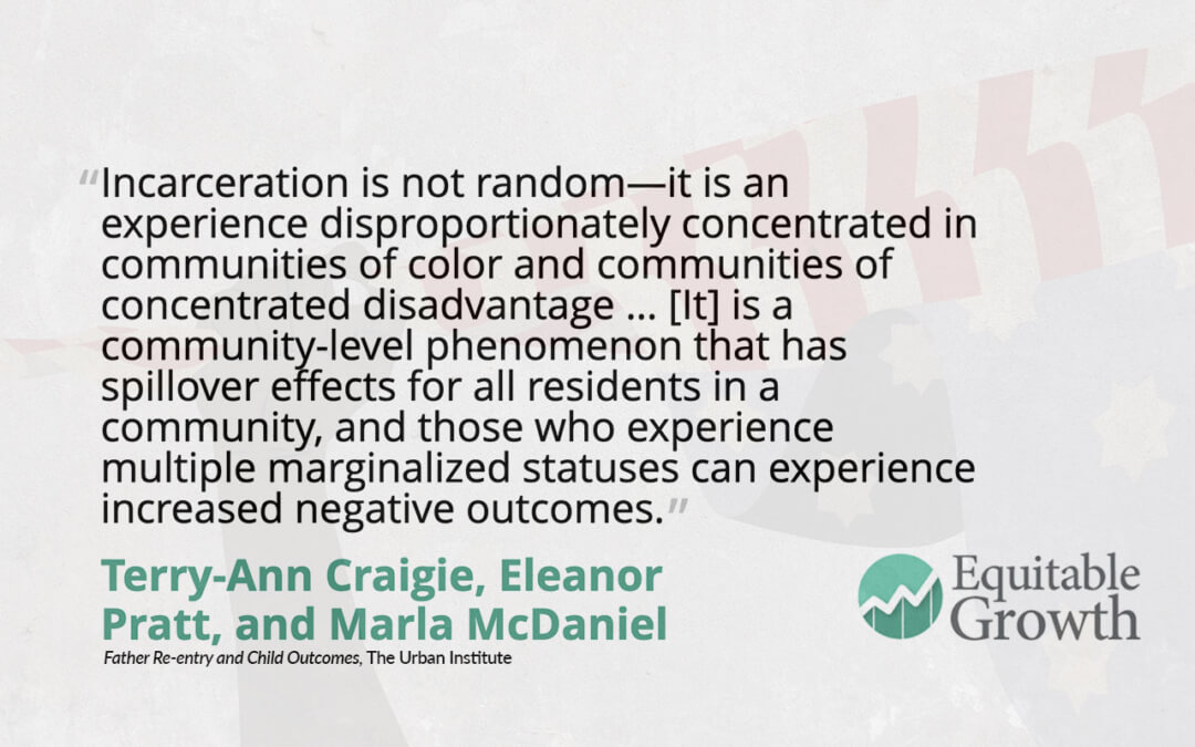 Quote from Terry-Ann Craigie and co-authors on incarceration