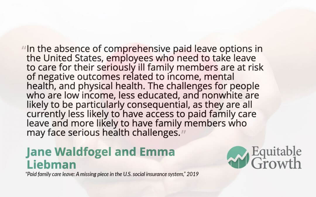 Quote from Jane Waldfogel and co-author on paid family care leave