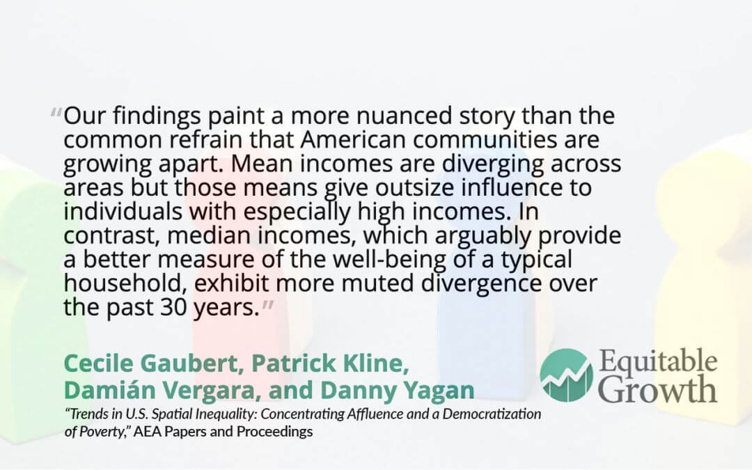 Quote from Danny Yagan and co-authors on incomes in American communities