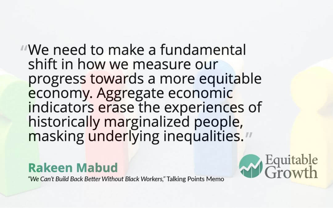 Quote from Rakeen Mabud on disaggregating data