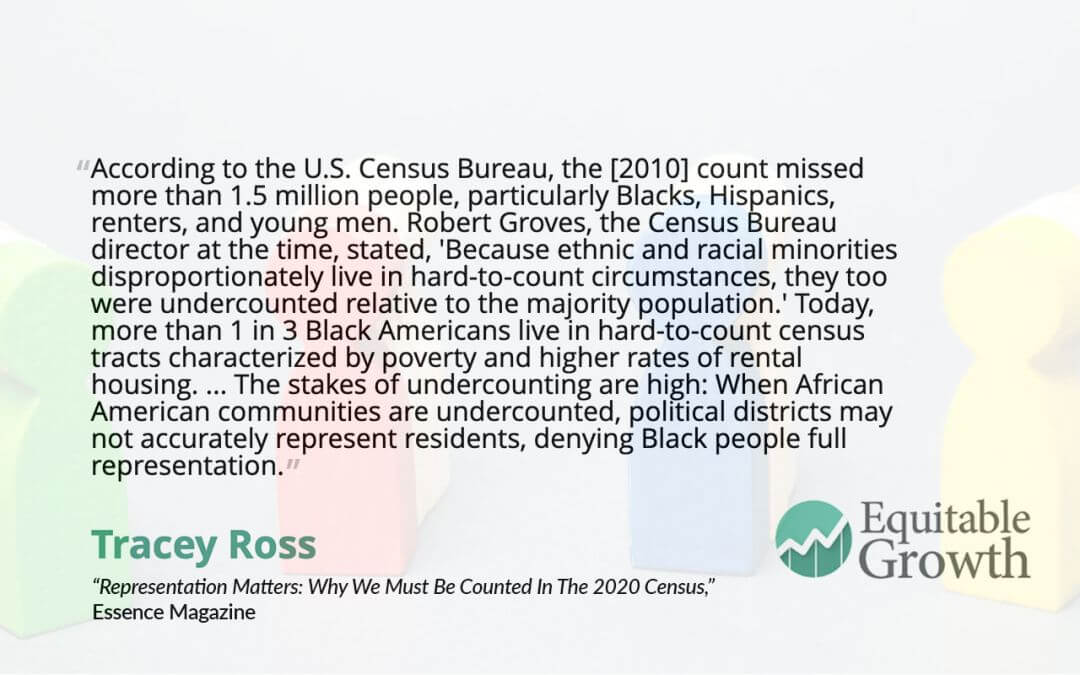 Quote from Tracey Ross on undercounting minority groups in the U.S. census