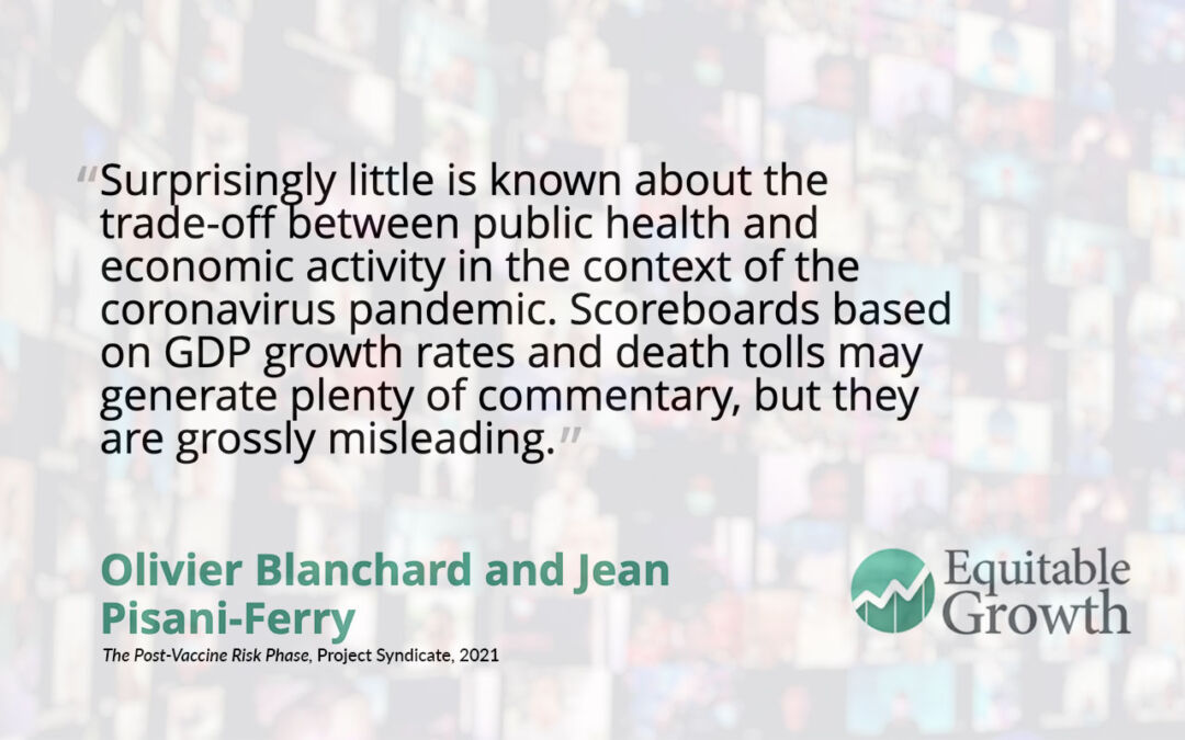 Quote from Olivier Blanchard on public health and economic activity
