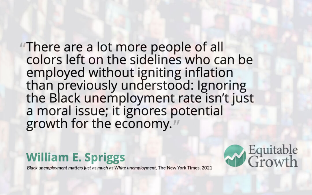 Quote from Bill Spriggs on Black unemployment
