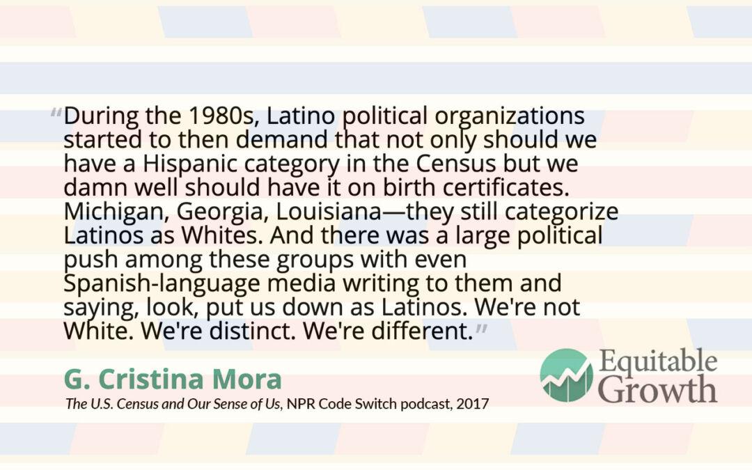 Quote from G. Cristina Mora on Latino sense of self