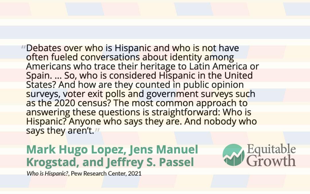 Quote from Mark Hugo Lopez on Hispanic identity