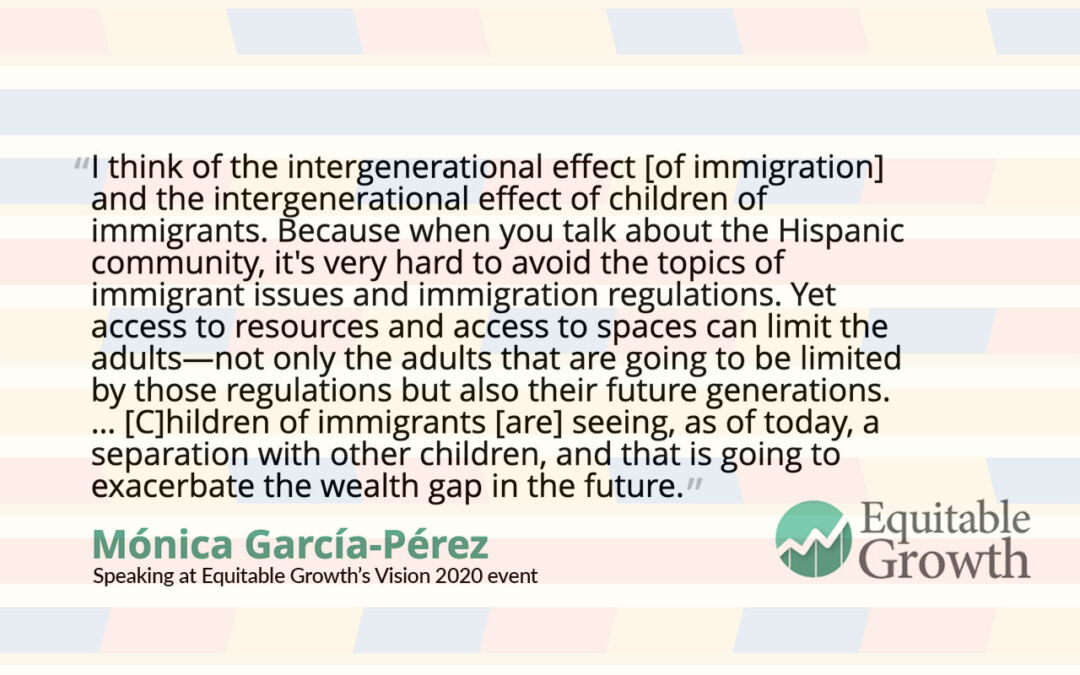 Quote from Monica Garcia-Perez on the intergenerational effect of immigration